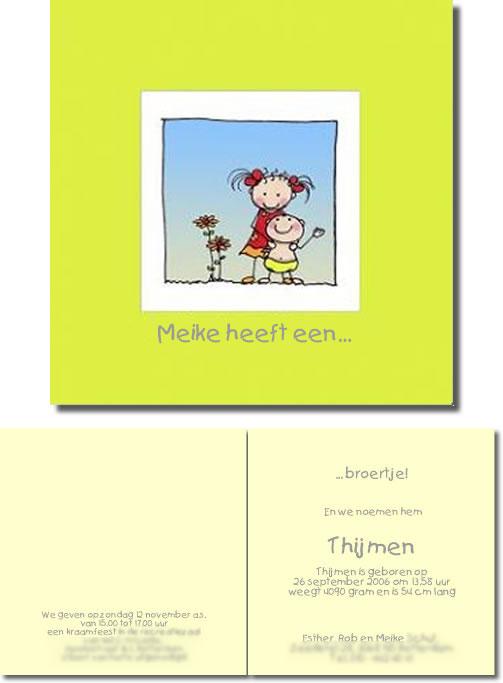 Geboortekaartje Thijmen