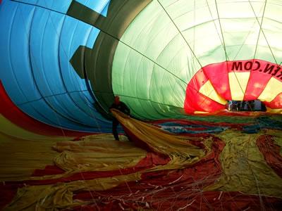De ballon werd opgeblazen